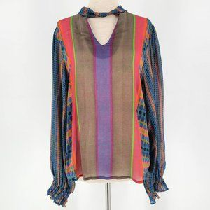 Anthropologie Conditions Apply Multicolor Top XS